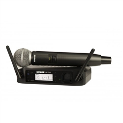 Shure GLXD24/SM58 Rechargeable Digital Wireless Microphone System
