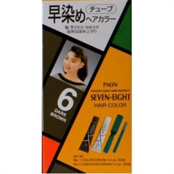 Paon Seven Eight Hair Color 6 Dark Brown   - Thuoc Nhuom Toc Mau Nau Den