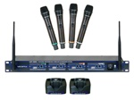 Vocopro UHF-5805 4-Channel Wireless UHF Rechargeable Microphone System