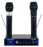 Vocopro VHF-3308 Dual Channel Rechargeable Wireless Microphone System