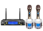 Better Music Builder VM-93C G5 Dual Channel UHF Wireless Rechargeable Microphone System